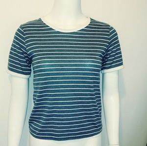 Sz 6 striped TOPSHOP ringer shirt